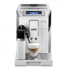 Espressor automat DeLonghi Eletta ECAM 45.760, 1450 W, 15 bar, 1.9 l, carafa lapte, display touch, alb