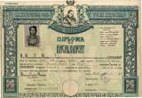 Diploma de Bacalaureat Calarasi Iunie 1944 - Liceul Despina Doamna - Ploiesti