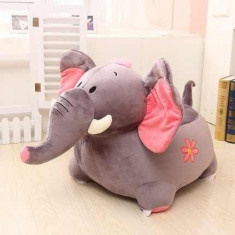 Fotoliu plus elefant gri/roz