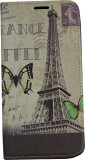 Husa Book Pocket Magnetic Lock pentru Samsung S6 Edge, Model France Eiffel
