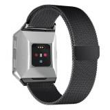 Cumpara ieftin Curea magnetica compatibila Fitbit Ionic, metalica, negru