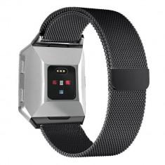 Curea magnetica compatibila Fitbit Ionic, metalica, negru