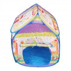 Casuta pliabila pentru copii, PVC + Textil, 100 cm, Multicolor