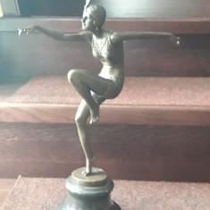 Statueta Art Nouveau dansatoare bronz