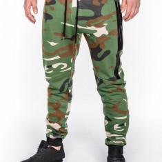 Pantaloni pentru barbati camuflaj stil militar army slim cu banda siret si buzunare P467