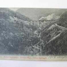 Carte postala circulata 1908 Oravița/Oravica(Caras-Severin),tren cu aburi, Printata, Oravita