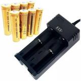 Incarcator pentru 2 acumulatori sau baterii reincarcabile 500mA cu decuplare automata