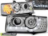 Faruri VW T4 90-03.03 TRANSPORTER DAYLIGHT Crom LED INDICATION