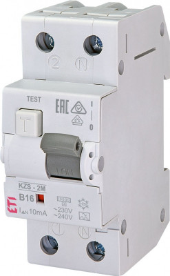 Siguranta automata RCBO ETI KZS-2M Tip A B16/0.01 foto