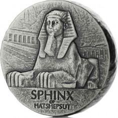 Moneda argint 999 lingou, Sphinx of Hatshepsut 5 oz 155 grame