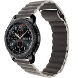 Cumpara ieftin Curea piele Smartwatch Samsung Gear S3, iUni 22 mm Dark Gray Leather Loop