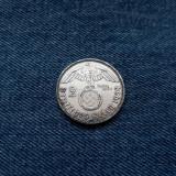#78 Germania 2 Reichsmark 1939 a, marci germane argint WW2 mark