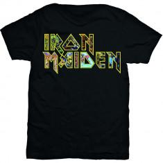 Tricou Iron Maiden: Eddie Logo