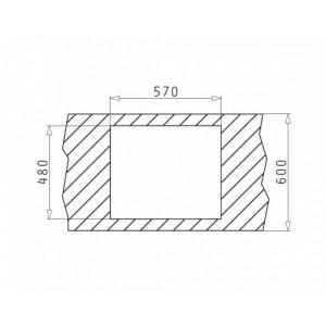 Set chiuveta granit Pyramis ALAZIA 59x50 si baterie MINUET Bej