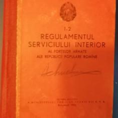RWX 62 - REGULAMENT SERVICIU - MILITAR 1962 - PIESA DE COLECTIE