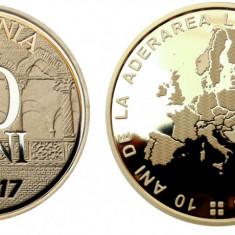 50 BANI PROOF 2017 -10 ani de la Aderarea României la Uniunea Europeană
