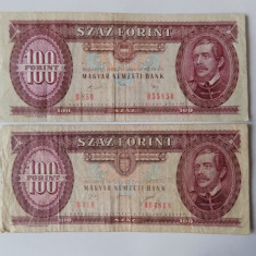 Bancnote Ungaria 100 forinti 2 variante 1989, 1995