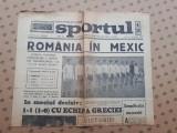 Ziarul SPORTUL ×  17 NOIEMBRIE 1969