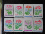 Serie timbre romanesti flora flori nestampilate Romania MNH, Nestampilat