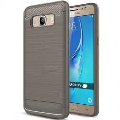 Husa Iberry Carbon Gri Pentru Samsung Galaxy J5 J510 2016, Silicon, Carcasa