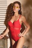 Costum de baie de damă dintr-o singură piesă Paige Red, Orhideja Lingerie