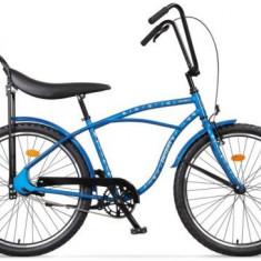 Bicicleta Pegas Strada 1 OTEL 2S, Cadru 17inch, Roti 26inch, 2 Viteze (Albastru)