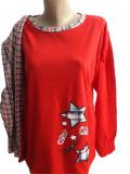 Cumpara ieftin Pijama dama cu maneca lunga si pantaloni lungi '' Star'' cod 818