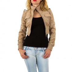 Jacheta scurta, de culoare bej