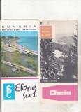 Bnk div Lot 16 pliante vechi turistice Romania