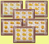2006 Romania, Monede de aur romanesti 6 coli de 7 timbre + 2 viniete LP 1710 MNH