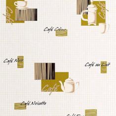 Tapet model coffee cu finisaj metalic evidentiat 062-25