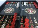 Joc Table Alb și Roșu (joc de Table) NOU - Lux lemn lacuit. SIGILAT!