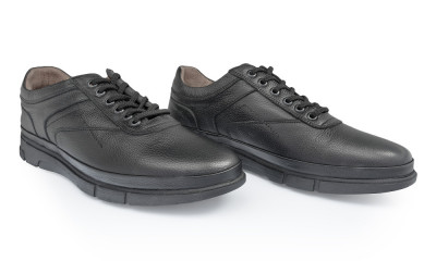 Pantofi barbati din piele naturala Caspian Cas-Tiger-01-N foto
