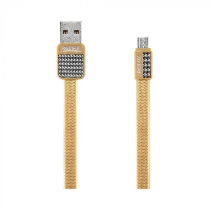 Cablu Remax Platinum MicroUSB RC-044 Auriu