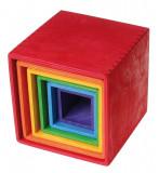 Set mare de cutii colorate curcubeu, Grimm's
