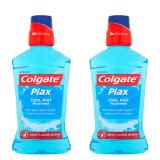 Cumpara ieftin Apa de Gura COLGATE Plax Cool Mint, 2 Buc/Set, Cantitate 500 ml/Buc, Apa de Gura, Apa de Gura Colgate, Colgate Plax Duo Mint, Set 2 Buc de 500 ml Apa
