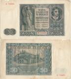 1941 (1 VIII), 50 złotych (P-102) - Polonia!  Ocupaţia nazistă din Polonia!