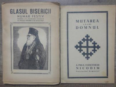 Glasul Bisericii// lot 2 volume dedicate Patriarhului Nicodim foto