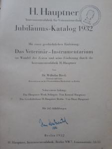 CATALOG INSTRUMENTE VETERINARE 1932//CAI, OVINE,BOVINE.../BERLIN-SOLINGEN