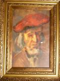 Tablou vechi-Studiu autoportret-Corneliu Baba, Portrete, Ulei, Impresionism
