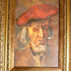 Tablou vechi-Studiu autoportret-Corneliu Baba