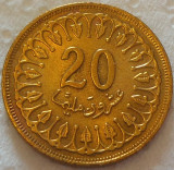 Moneda exotica 20 MILLIM - TUNISIA, anul 1960  *cod 4801 = NECIRCULATA