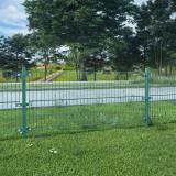 Panou gard cu stâlpi, verde, 6x0,8 m, fier vopsit electrostatic