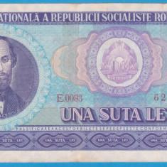 (20) BANCNOTA ROMANIA - 100 LEI 1966, PORTRET NICOLAE BALCESCU