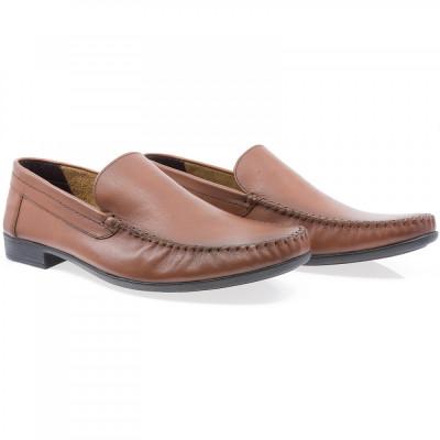 Pantofi barbati Caspian din piele naturala Cas-660-TABA foto