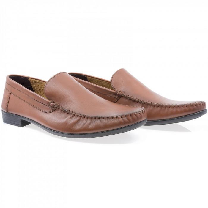 Pantofi barbati Caspian din piele naturala Cas-660-TABA