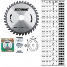 Disc circular pentru lemn 125mm, Raider