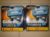 16  rezerve Fusion Gillette Proshield chill in 2 seturi de 8+8 buc (noi) USA