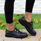 Pantofi dama Piele casual negri Oniki