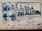 Carte postala litografiata, Salutari din Galati, circulata,stare buna, Printata